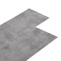 vidaXL barna cement színű 2 mm-es öntapadó PVC padlóburkolat 5,02 m²