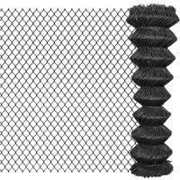 vidaXL szürke acél drótkerítés 25 x 1,5 m