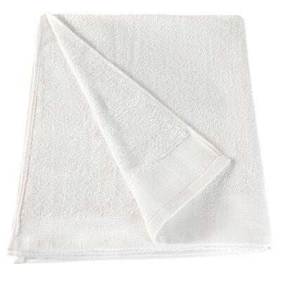 vidaXL 5 db fehér pamut szaunatörölköző 450 g/m² 80 x 200 cm