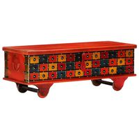 vidaXL piros tömör akácfa tárolóláda 110 x 40 x 40 cm