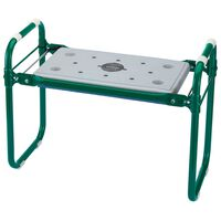 Draper Tools zöld vas összecsukható kerti szék/térdelő