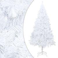 vidaXL fehér PVC műkarácsonyfa vastag ágakkal 210 cm