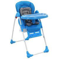 vidaXL kék és szürke babaetetőszék