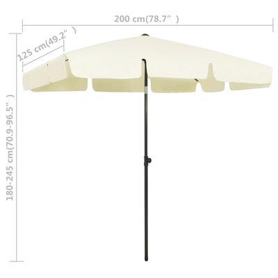 vidaXL homoksárga strandnapernyő 200 x 125 cm