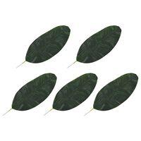 vidaXL 5 darab zöld mű banánlevél 50 cm