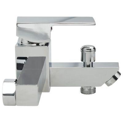vidaXL króm fürdőszobai keverőcsaptelep termosztáttal,