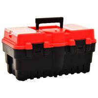 vidaXL piros műanyag szerszámosláda 462 x 256 x 242 mm