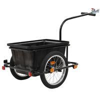 vidaXL fekete kerékpár utánfutó 50 L