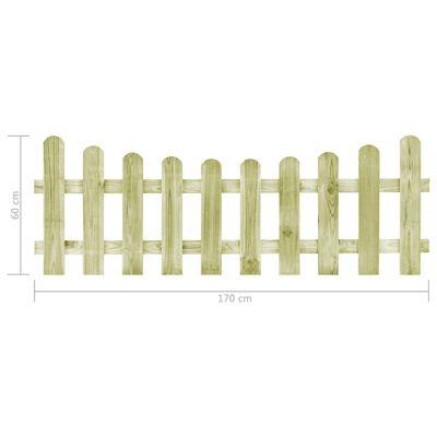 vidaXL kertkapu impregnált fenyőfalécekből 170 x 60 cm