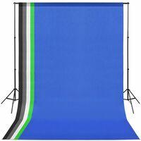 vidaXL fotó stúdió szett 5 színes háttérrel és állítható kerettel