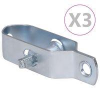 vidaXL 3 darab ezüstszínű acél huzalfeszítő kerítéshez 100 mm