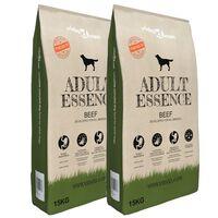 """vidaXL 2 db """"Adult Essence Beef"""" prémium száraz kutyatáp 30 kg"""