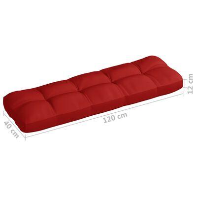 vidaXL piros szövet kerti kanapépárna 120 x 40 x 12 cm
