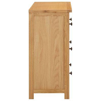 vidaXL tömör tölgyfa fiókos szekrény 80 x 35 x 75 cm