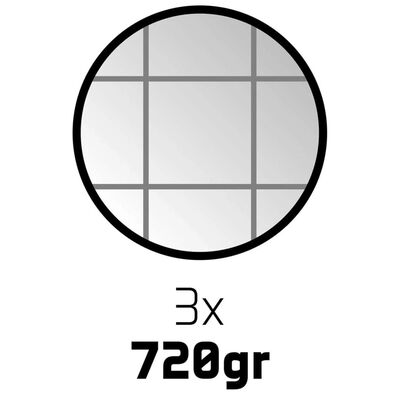 Get & Go III petanque készlet 3 db ezüst golyóval CGA 52JO-CGA-Uni