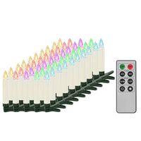 vidaXL 50 db karácsonyi vezeték nélküli RGB LED gyertya távirányítóval