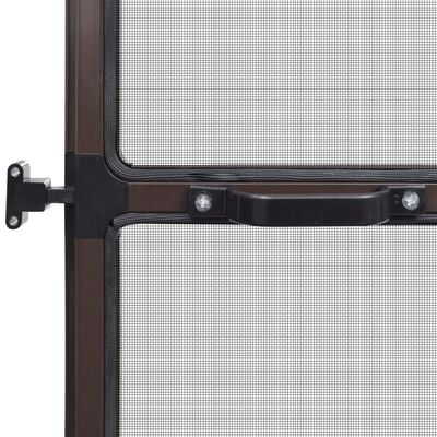 Barna csukló ajtós szúnyogháló 120 x 240 cm