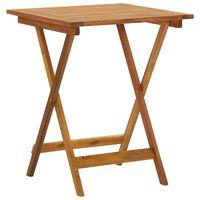 vidaXL összecsukható tömör akácfa kerti asztal 60 x 60 x 75 cm