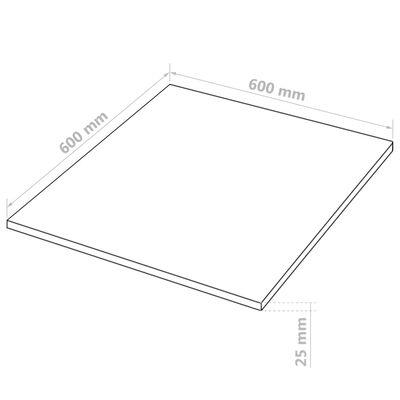 vidaXL 2 db négyzet alakú MDF-lap 60x60 cm 25 mm