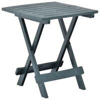 vidaXL zöld műanyag összecsukható kerti asztal 45 x 43 x 50 cm