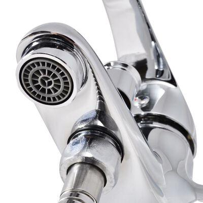 vidaXL krómozott fürdőszoba zuhany csaptelep szett