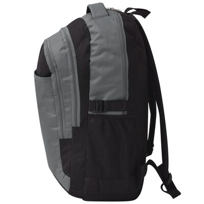 vidaXL 40 literes iskolai hátizsák fekete és szürke