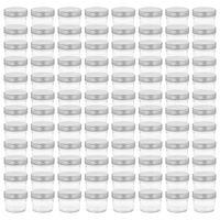vidaXL 96 db 110 ml-es befőttesüveg ezüstszínű tetővel