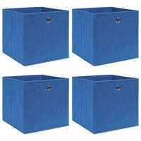 vidaXL 4 db kék szövet tárolódoboz 32 x 32 x 32 cm
