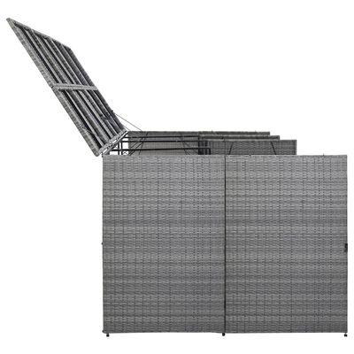 vidaXL antracit polyrattan kukatároló 4 kerekes kukához 305x78x120 cm