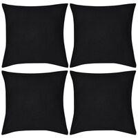 4 db pamut párnahuzat 50 x 50 cm fekete