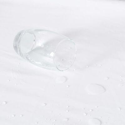 vidaXL 2 db fehér vízálló pamut lepedő 200 x 200 cm
