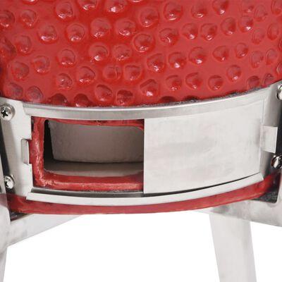 vidaXL Kamado kerámia füstölővel kombinált grillező 76 cm