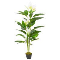 vidaXL fehér, cserepes műflamingóvirág 155 cm