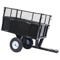vidaXL 150 kg-os teherbírású billenős pótkocsi fűnyírótraktorhoz