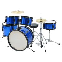 vidaXL teljes junior dobfelszerelés porszórással felületkezelt acél, kék