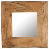 vidaXL tömör akácfa keretű sminktükör 50 x 50 cm