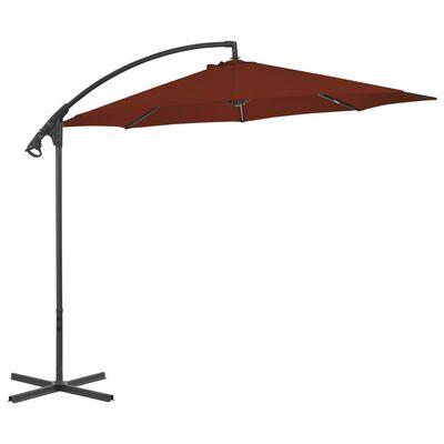 vidaXL terrakotta konzolos napernyő acélrúddal 300 cm