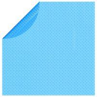 vidaXL kék napelemes kerek lebegő PE medencefólia 381 cm