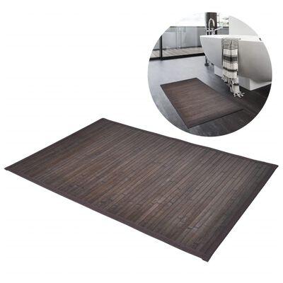 vidaXL 4 db sötétbarna bambusz fürdőszobaszőnyeg 40 x 50 cm
