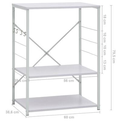 vidaXL fehér forgácslap mikrosütő szekrény 60 x 39,6 x 79,5 cm