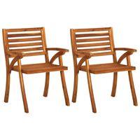 vidaXL 2 db tömör akácfa kerti szék