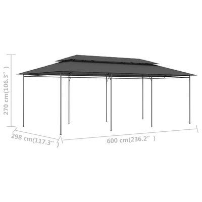vidaXL antracitszürke pavilon 600 x 298 x 270 cm