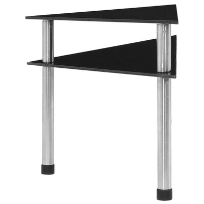 vidaXL fekete edzett üveg konyhai polc 49,5 x 35 x 26 cm