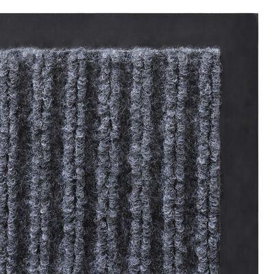 Szürke PVC Lábtörlő 90 x 150 cm
