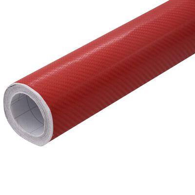 vidaXL matt piros 4D autófólia 500 x 152 cm, Red