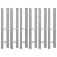 vidaXL 6 db ezüstszínű horganyzott acél kerítéshorgony 9 x 6 x 60 cm