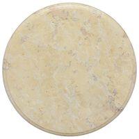 vidaXL krémszínű márvány asztallap Ø40 x 2,5 cm