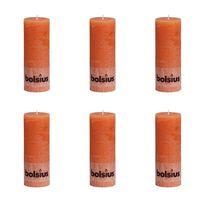 Bolsius 6 db narancssárga rusztikus oszlopgyertya 190 x 68 mm