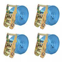 vidaXL 4 db kék racsnis spanifer 2 tonna 6 m x 38 mm