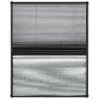 vidaXL alumínium pliszé ablakszúnyogháló árnyékolóval 60 x 80 cm